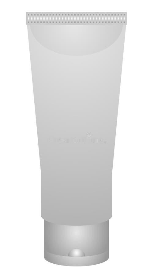 Pakujący Białe Realistyczne tubki Dla kosmetyków Odizolowywających Na Białym tle ilustracji