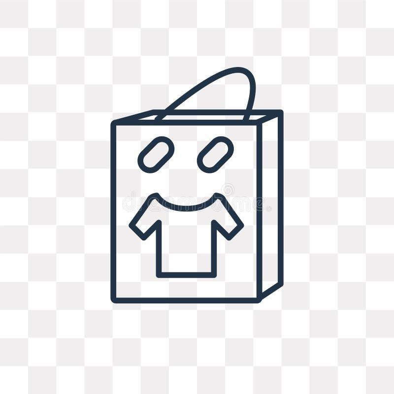 Pakuje wektorową ikonę odizolowywającą na przejrzystym tle, liniowy P ilustracji