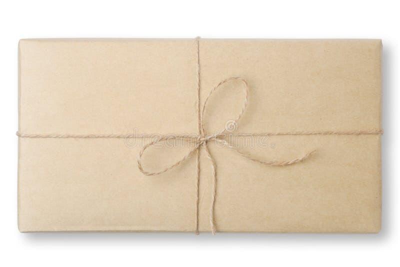 Pakuneczek zawijający pakujący pudełko zdjęcia stock