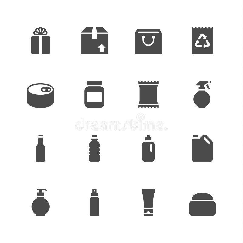 Pakunek ikony royalty ilustracja