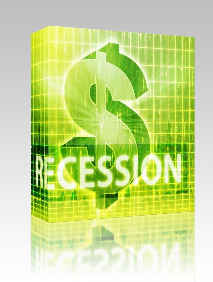 pakunek pudełkowata finansowa ilustracyjna recesja royalty ilustracja