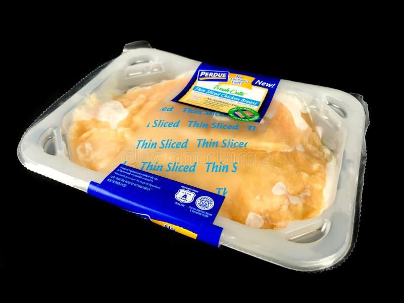 Pakunek Purdue kurczaka Cienka Pokrojona pierś zdjęcia royalty free