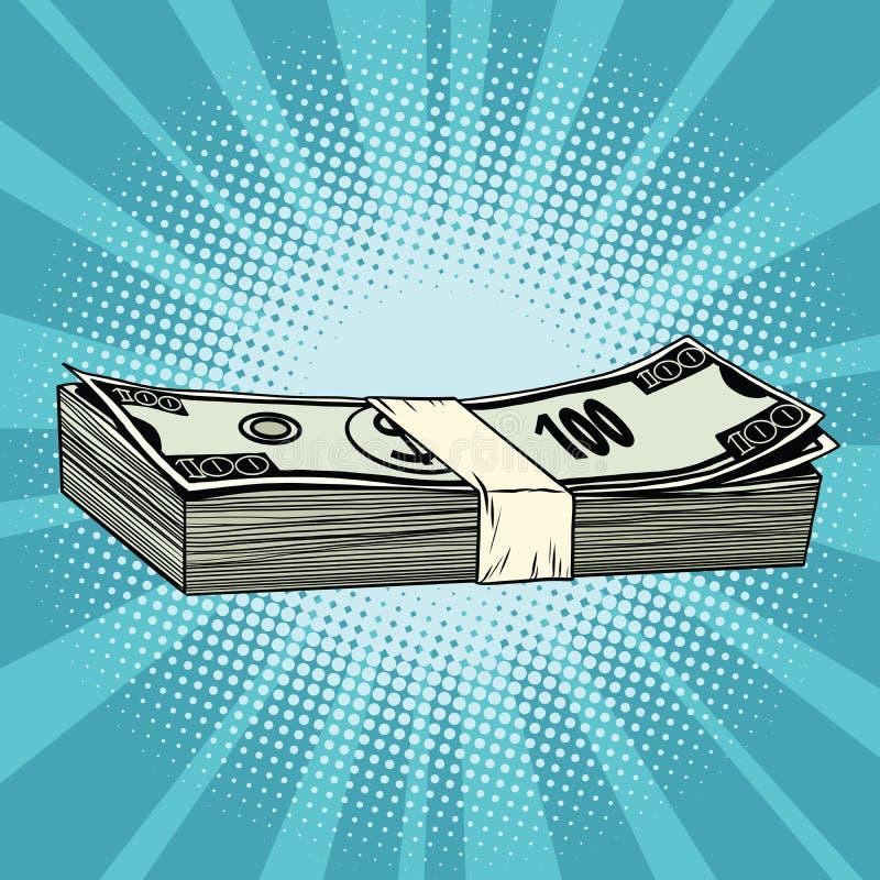 Pakunek rachunki, bogactwo, biznes i Financ dolara, royalty ilustracja