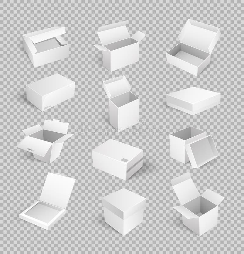 Pakunków pudełka Otwierali Odgórnego Odosobnionego ikona wektor ilustracji