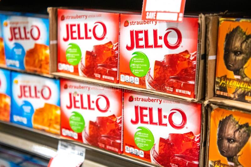 Pakunki jell gatunku gelatin deser obrazy stock