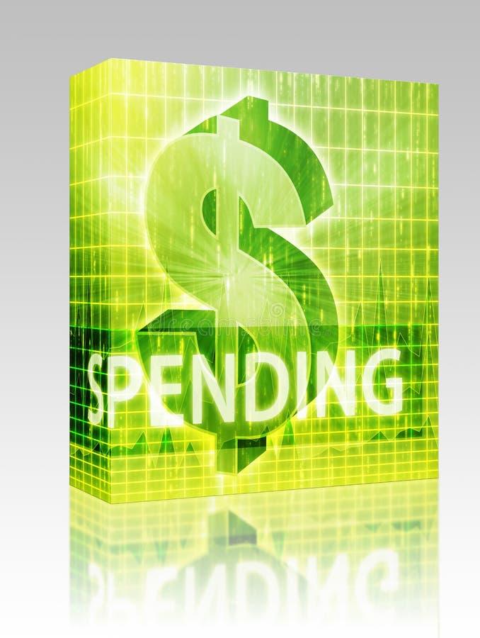 pakunku pudełkowaty finansowy ilustracyjny wydatki royalty ilustracja