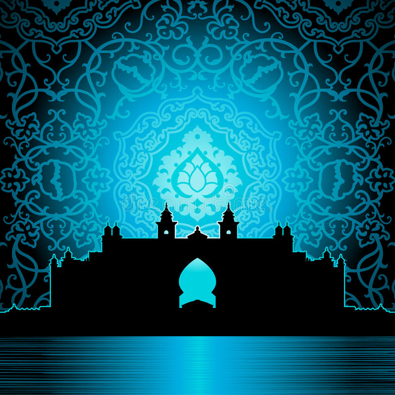 Palácio árabe ilustração do vetor