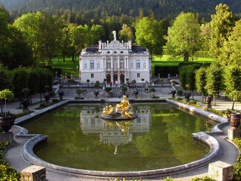 Palácio 03 de Linderhof, Alemanha imagens de stock