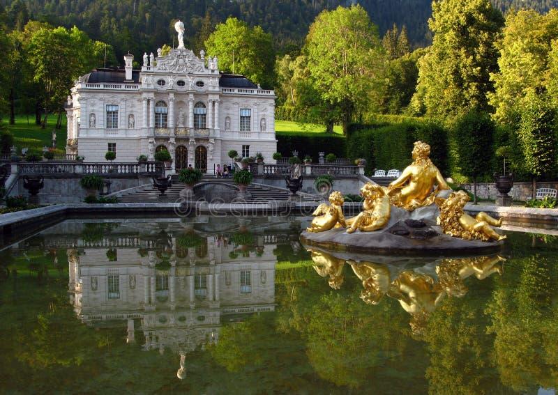 Palácio 04 de Linderhof, Alemanha imagens de stock