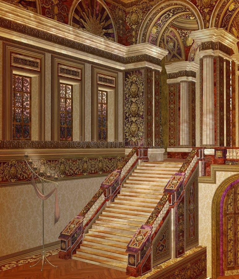 Palácio 1 da fantasia ilustração do vetor