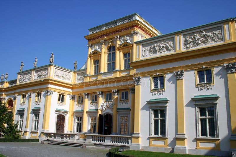 Palácio 1 de Wilanow imagens de stock royalty free
