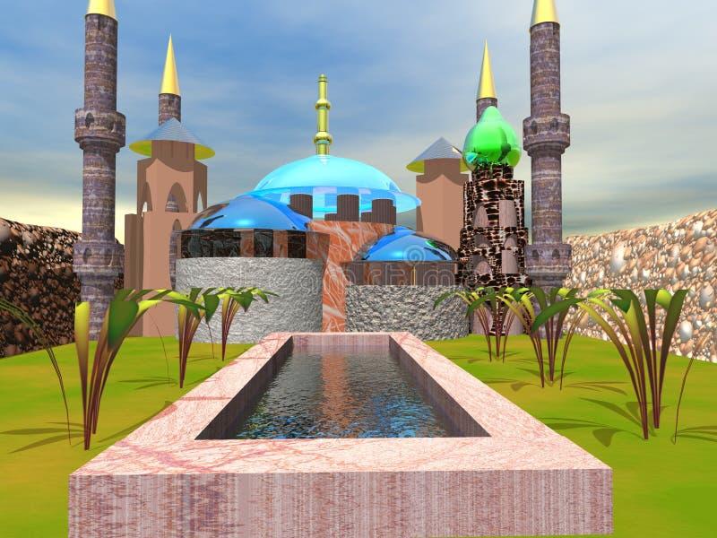 Palácio ilustração royalty free