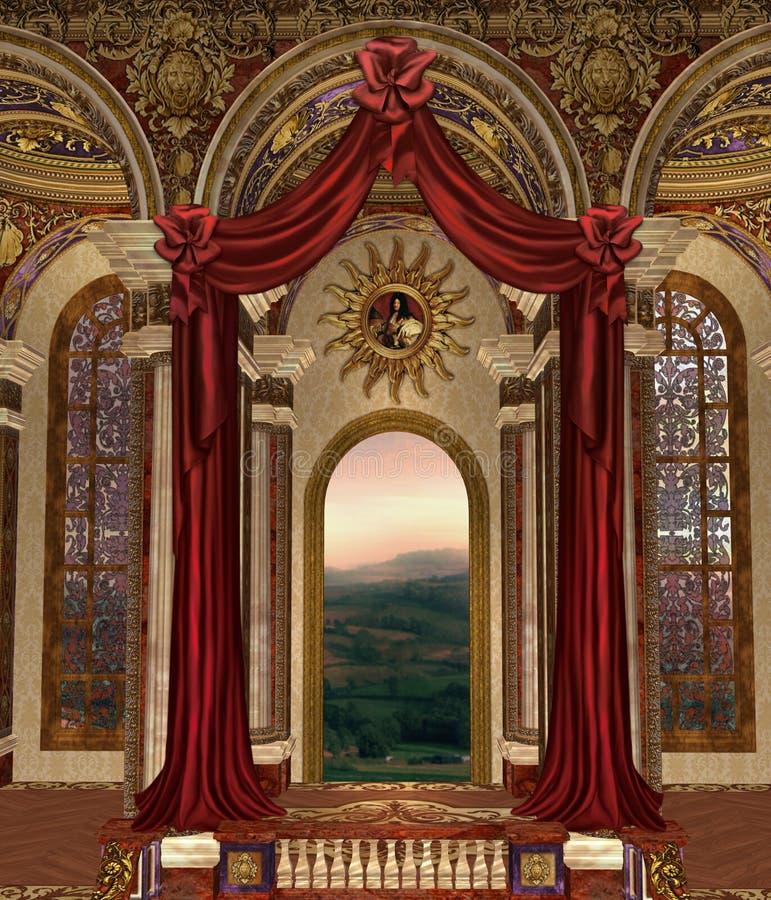Palácio 3 da fantasia ilustração do vetor