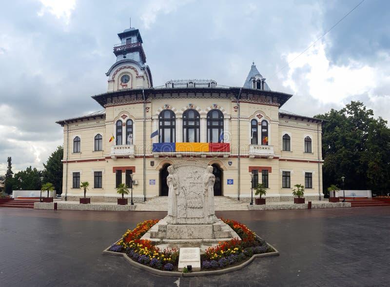 Palácio administrativo do TB0 0N Condado de Gorj fotografia de stock