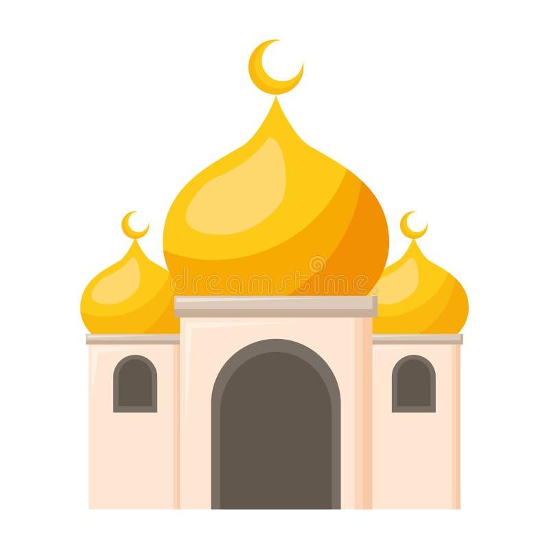 Palácio antigo mahal de Taj ilustração stock