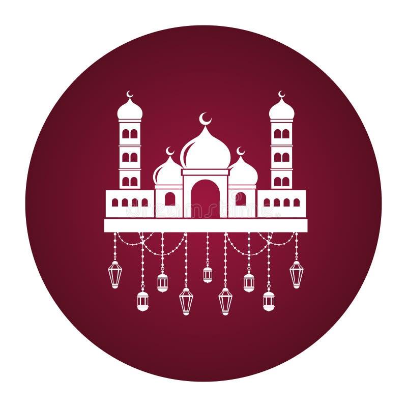 Palácio antigo mahal de Taj ilustração royalty free