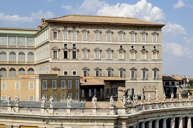 Palácio apostólico, Roma - Vaticano, basílica de St Peter imagem de stock royalty free