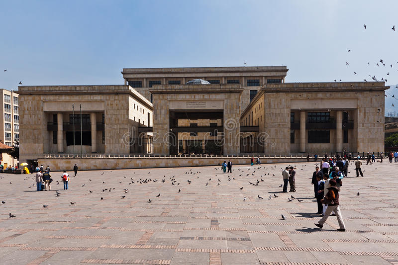 Palácio Bogotá Colômbia de justiça fotografia de stock