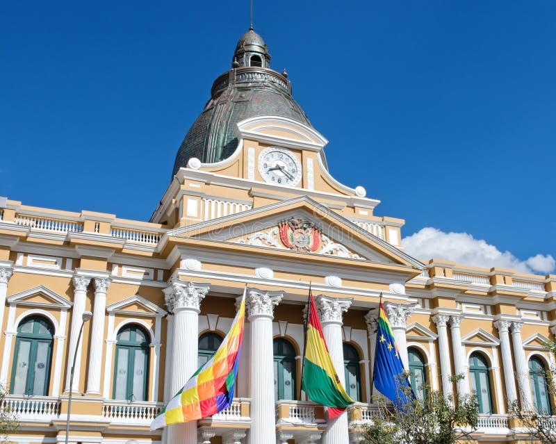 Palácio boliviano do governo em La Paz, Bolívia fotos de stock