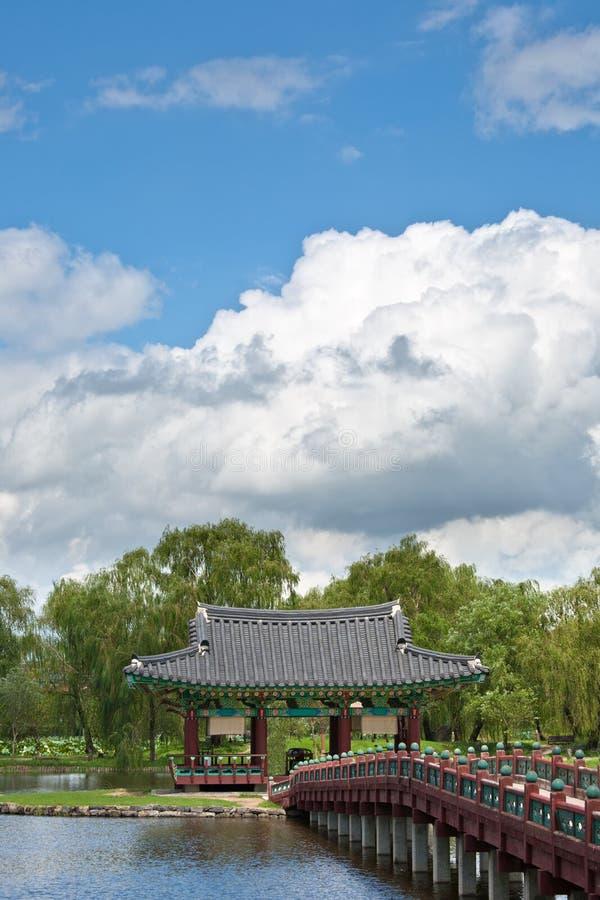 Palácio bonito de Coreia do Sul fotografia de stock