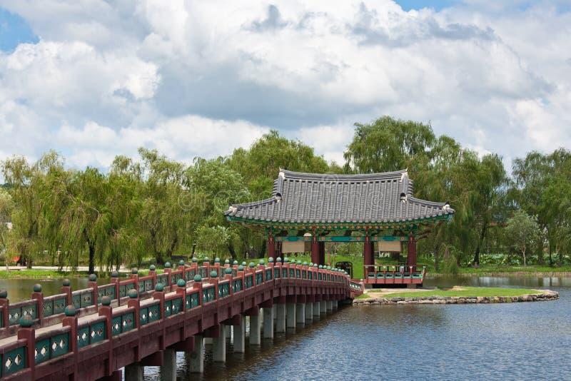 Palácio bonito de Coreia do Sul imagens de stock