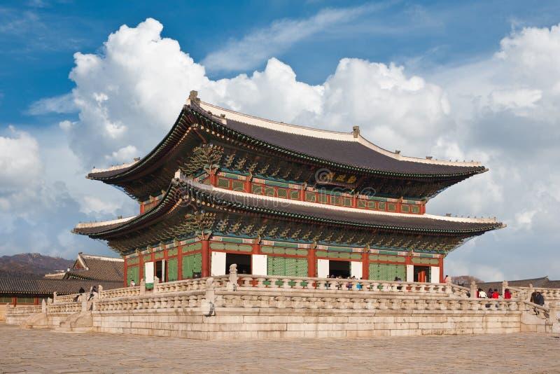 Palácio bonito de Coreia do Sul fotos de stock