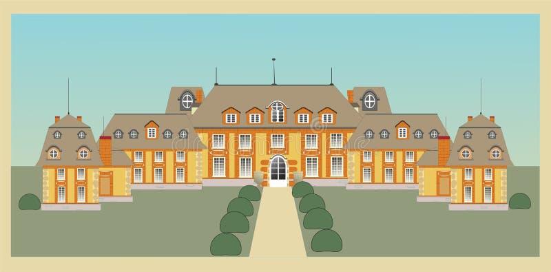 Palácio, castelo,   ilustração royalty free