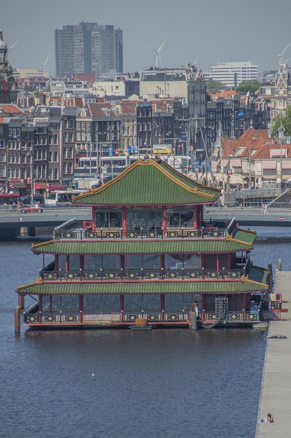 Palácio chinês do mar do restaurante em Amsterdão o 2018 holandês fotos de stock royalty free