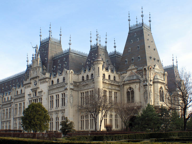 Palácio cultural de Iasi fotografia de stock