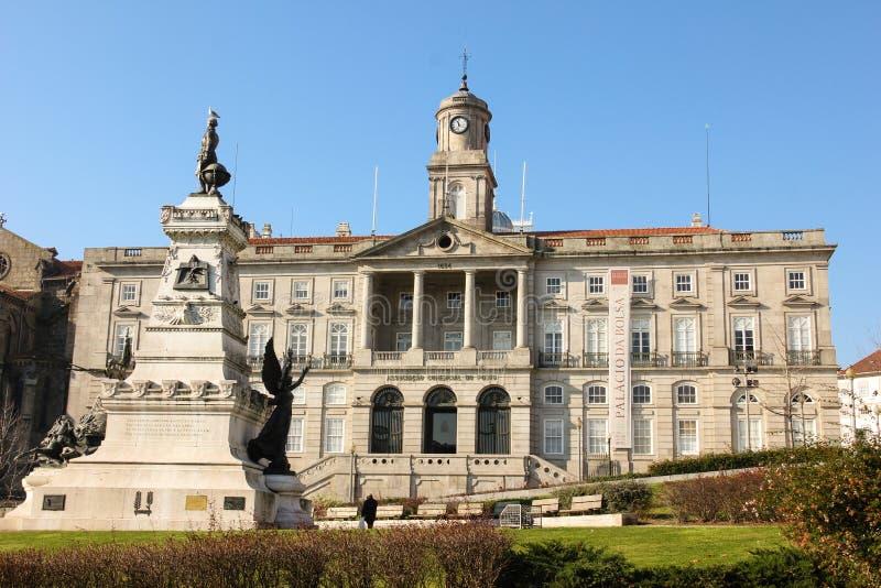 Palácio da bolsa de valores. Porto. Portugal foto de stock