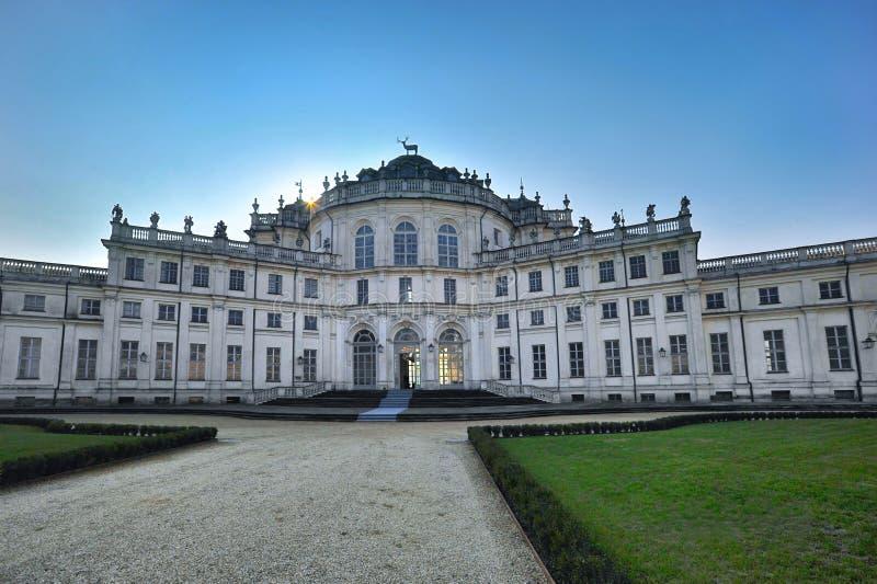 Palácio da caça de Stupinigi, perto de Turin, na região de Piedmont fotografia de stock royalty free