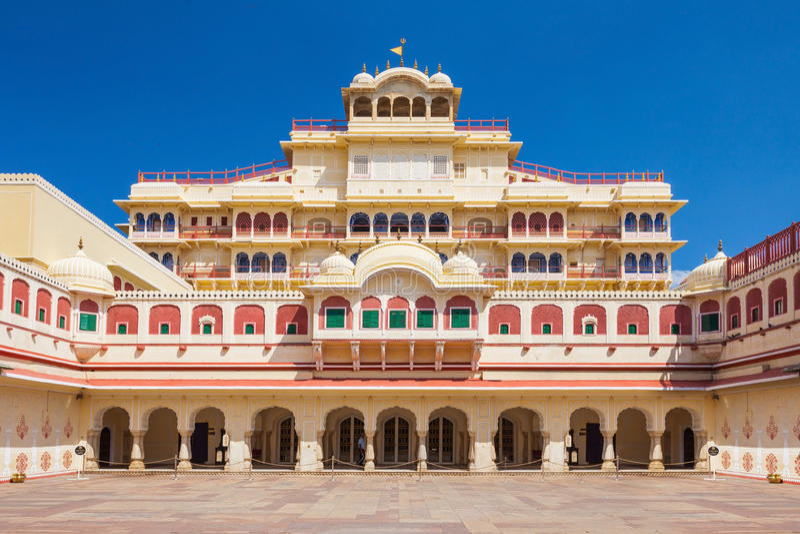 Palácio da cidade em Jaipur imagens de stock