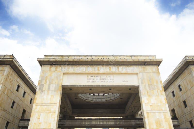 Palácio da construção de justiça no ¡ de Bogotà imagem de stock royalty free