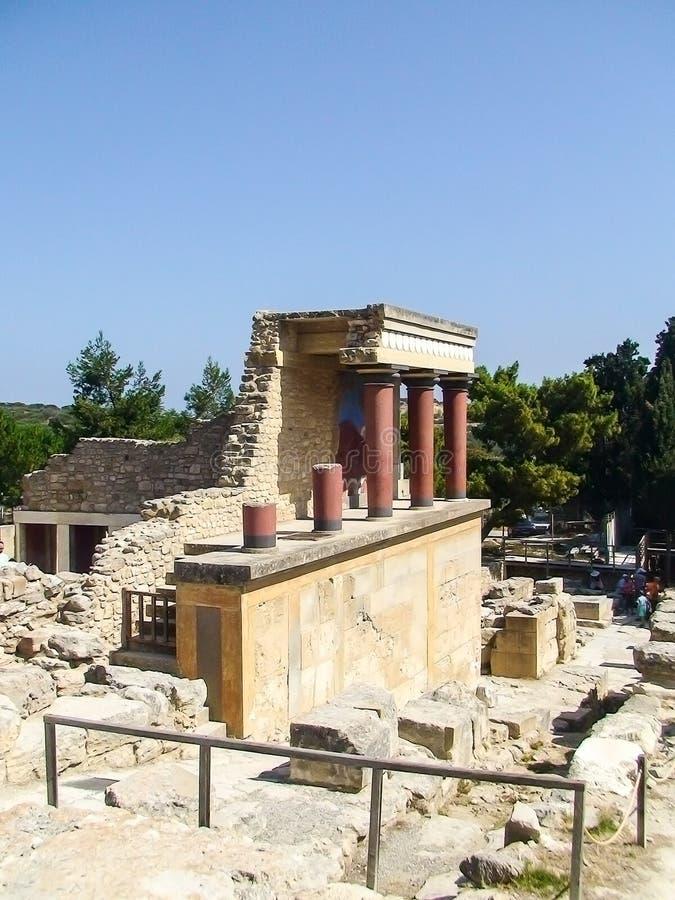 Palácio da Creta de Knossos imagens de stock