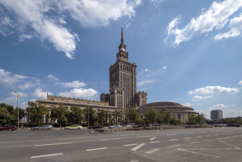Palácio da cultura e da ciência em Varsóvia imagem de stock royalty free