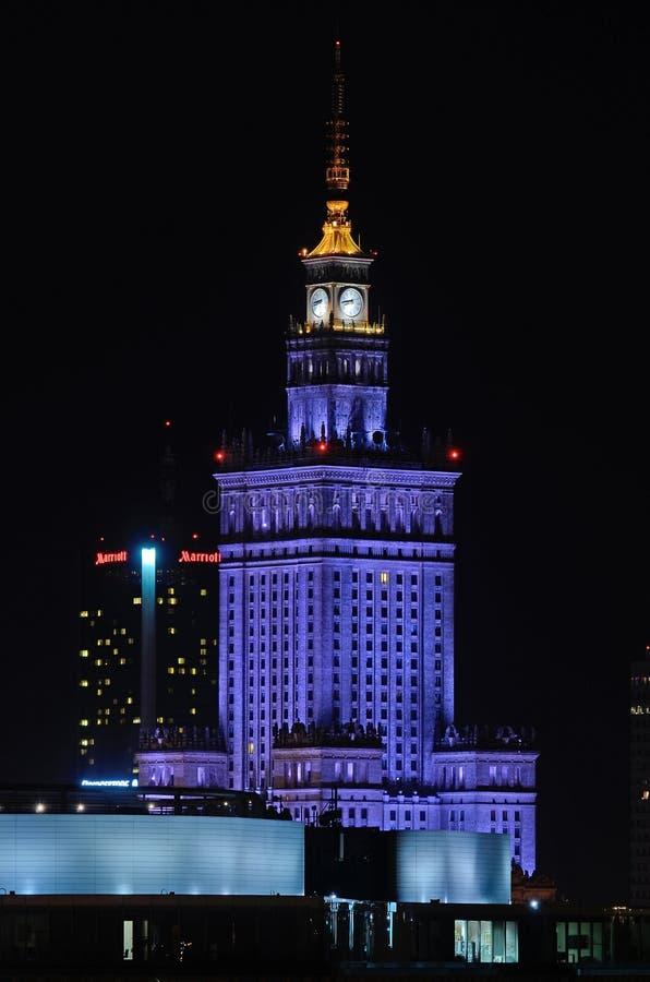 Palácio da cultura e da ciência em Varsóvia (Poland) fotografia de stock