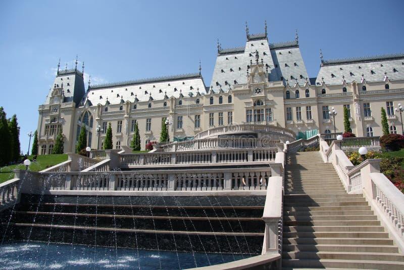 Palácio da cultura em Iasi (Roménia) fotos de stock
