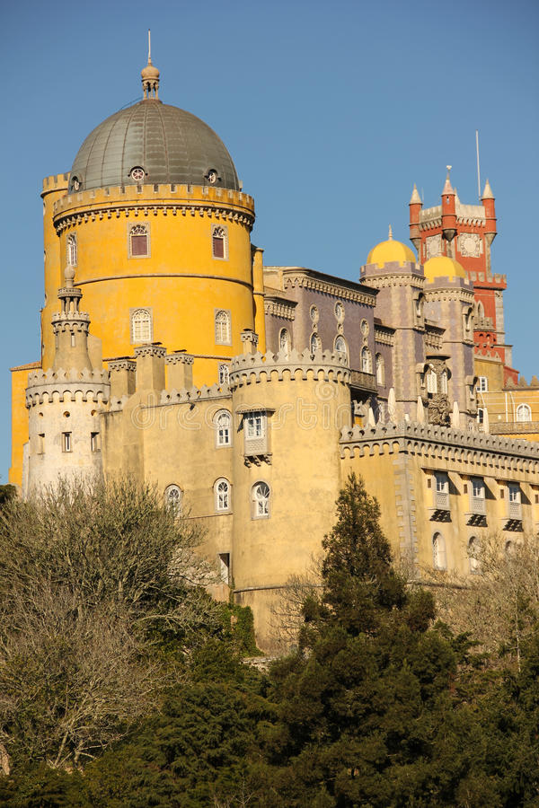 Palácio da Dinamarca Pena. Sintra. Portugal imagem de stock royalty free