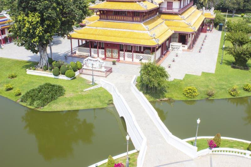 Palácio da dor do golpe da província de Ayutthaya imagem de stock royalty free