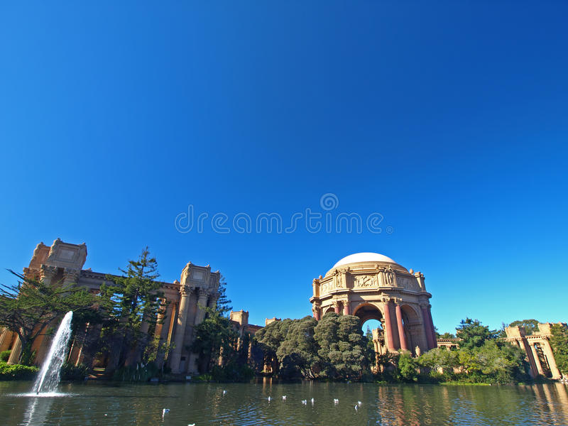 Palácio das belas artes em San Francisco. imagens de stock royalty free