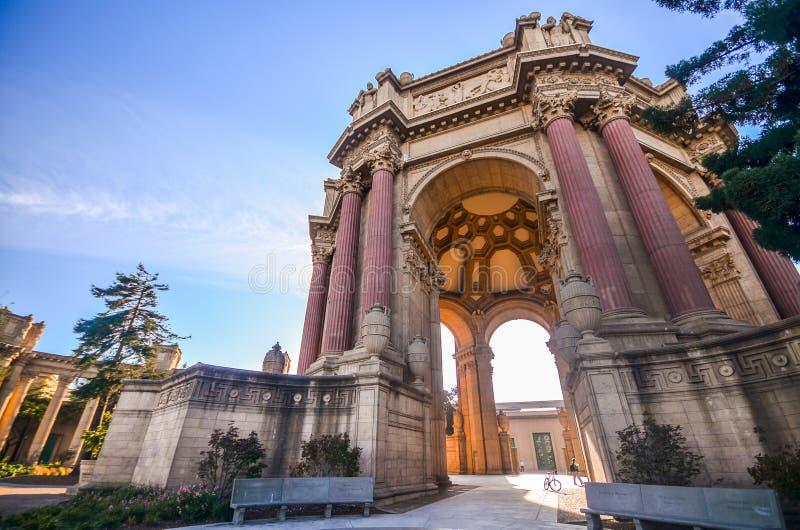 Palácio das belas artes em San Francisco fotos de stock