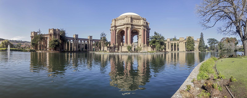 Palácio das belas artes, San Francisco fotos de stock royalty free