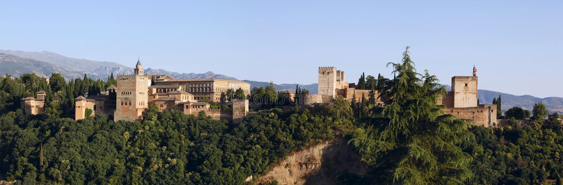 Palácio de Alhambra, Granada. fotos de stock