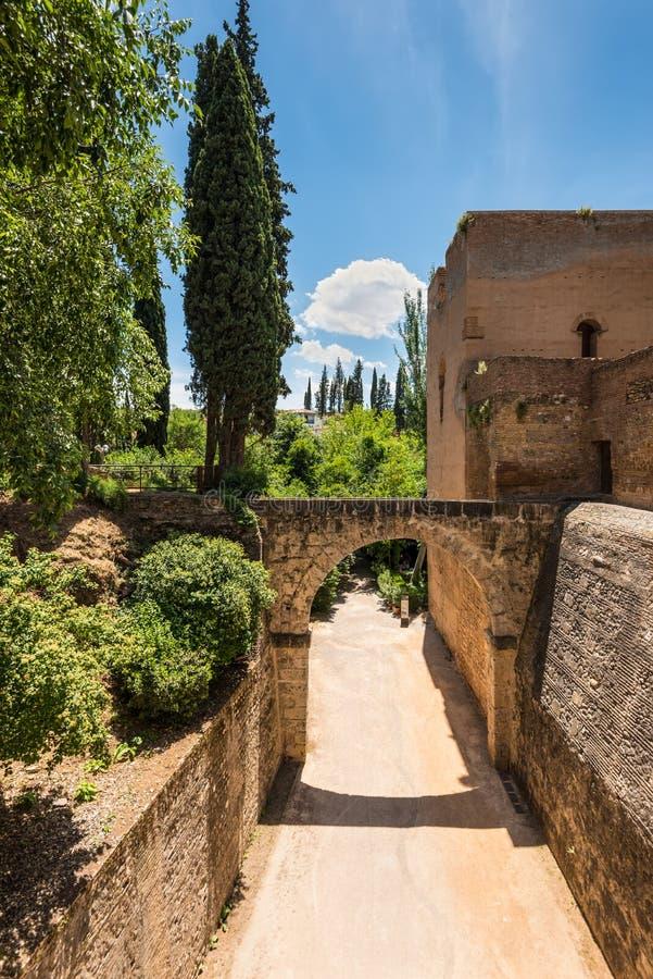 Palácio de Alhambra, Granada, a Andaluzia, Espanha imagem de stock royalty free