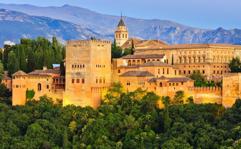 Palácio de Alhambra, Granada, Spain fotografia de stock royalty free