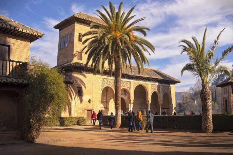 Palácio de Alhambra Partal, Granada, Espanha imagens de stock