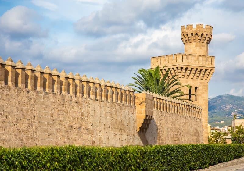 Palácio de Almudaina fotografia de stock royalty free
