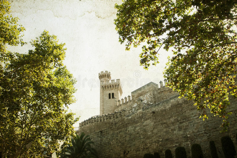Palácio de Almudaina, Palma de Mallorca fotografia de stock