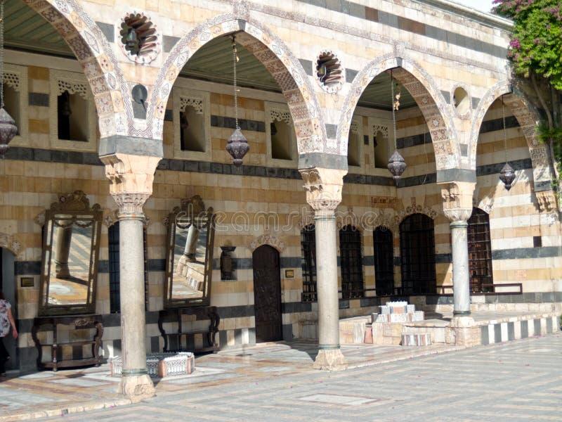 Palácio de Azem, Damasco imagem de stock