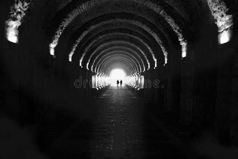 Palácio de Beylerbeyi, túnel da passagem imagem de stock